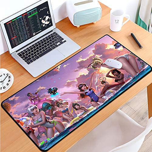 FzAqua Player Extended Gaming Mouse Pad-Rubber Base with Anti-Fray Cloth Speed Soft Gamer Mouse Pad 31.5Lx11.8Wx0.12H(OW)