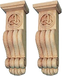 Wild Goose Carvings. Irish Legacy Fire Surround Corbels. 14¾ in high x 5¼ in Wide x 4 in deep. Hand Carved by Our Master Craftsmen in Solid Natural Pinewood. Supplied as a Matched Pair.
