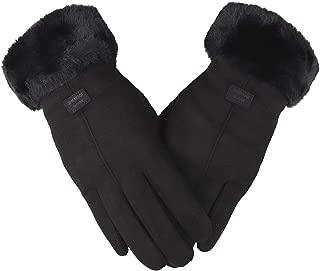 Best black suede gloves womens Reviews