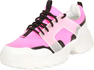Cambridge Select Women's Retro 90s Ugly Dad Lace-Up Chunky Platform Fashion Sneaker