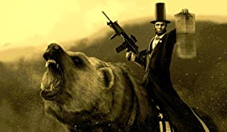 Lincoln Riding Bear TCG playmat, gamemat 24