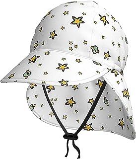 Lsjuee - Cappello da sole per bambini, traspirante, a forma di stelle