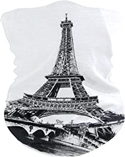 Paris Tower Pencil Painting Balaclava Womens Headband Scarf Mens Versatile Bandana, Muffler, Neck Gaiter, Magic, Foulard Collars