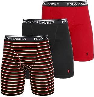 (ポロラルフローレン) POLO RALPH LAUREN ボクサーパンツ メンズ【3枚組セット】CLASSIC FIT COTTON LONG LEG BOXER BRIEFS [並行輸入品]