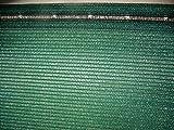 AGROFLOR - Brise-vue - Tapis ombragé - Protection contre le vent - Avec attache-câbles - Différentes tailles 1,5 x 25 m vert foncé