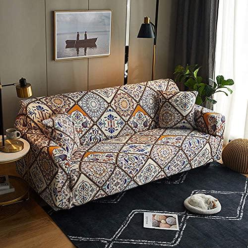DOSN - Funda de sofá extensible de 3 plazas, funda de sofá para dormitorio, salón, antideslizante, funda de protección para sofá