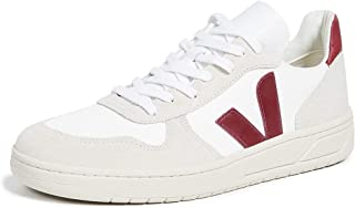 VEJA V-10 B Mesh Baskets Mode Hommes Blanc/Bordeaux Baskets Basses