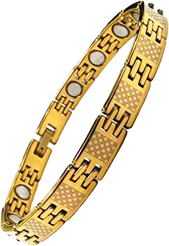 Aarogyam Biomagnetic Tungsten Good Health Golden Bracelet for Men Women Girls Boys