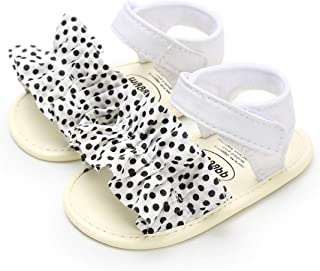 BENHERO Infant Baby Girls Sandals, Premium Soft Rubber Sole Anti-Slip Summer Toddler Flats First Walkers Shoes