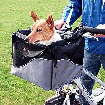 Friends On Tour - Panier de Guidon pour vélo Robuste et stable Avec bandoulière Pour animaux domestiques