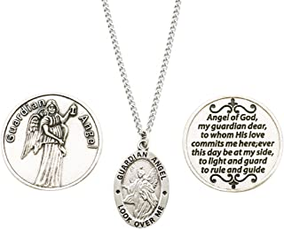 mens guardian angel necklace