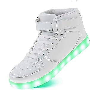 Light Up High Top Shoes USB Charging LED Sneakers for Toddler Boys Girls Unisex Men Women on Festivals, Thanksgiving, Chri...