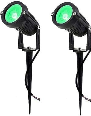 D'Mak™ LED Outdoor Garden Spot and Spike 3W IP65, Green 3000K, with 1 Year Warranty, Aluminium Body (3Watt) - Set of 2   Gard