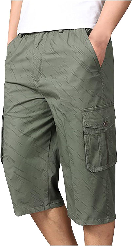 Men's 3/4 Capri Pants Outdoor Hiking Shorts Quick Dry Cargo Shorts Camping Shorts Stretchy Shorts Men Work Shorts