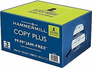 "Hammermill 3-Ream Pack Copy Plus Multipurpose Fax Laser Inkjet Printer Paper, 8 1/2"" x 11"" Letter Size, 92 Bright White, 2..."