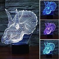 LEDノベルティ動物の形のアクリルの3D夜の光、赤ちゃんの睡眠ランプベッドサイドランプカラフルなベッドルーム、リビングの雰囲気ランプテーブルランプ、C,C
