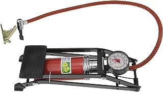 RUIXIB Muti Fußluftpumpe mit Manometer Tragbar Hochdruck Pumpe Fahrradpumpen Fußpumpe Ball Pumpe inkl. 1 Nadel für Sportbälle, 1 Nadel für aufblasbaren Spielzeug