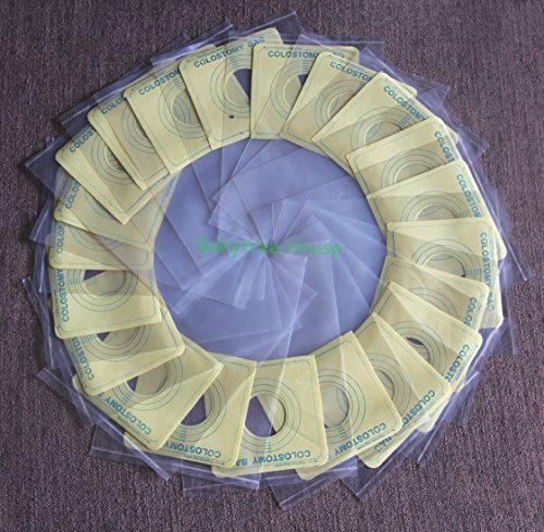 100PCS Colostomy Bags Ostomy Stoma Cut to Fit One-Piece System Disposable Pouches (1)