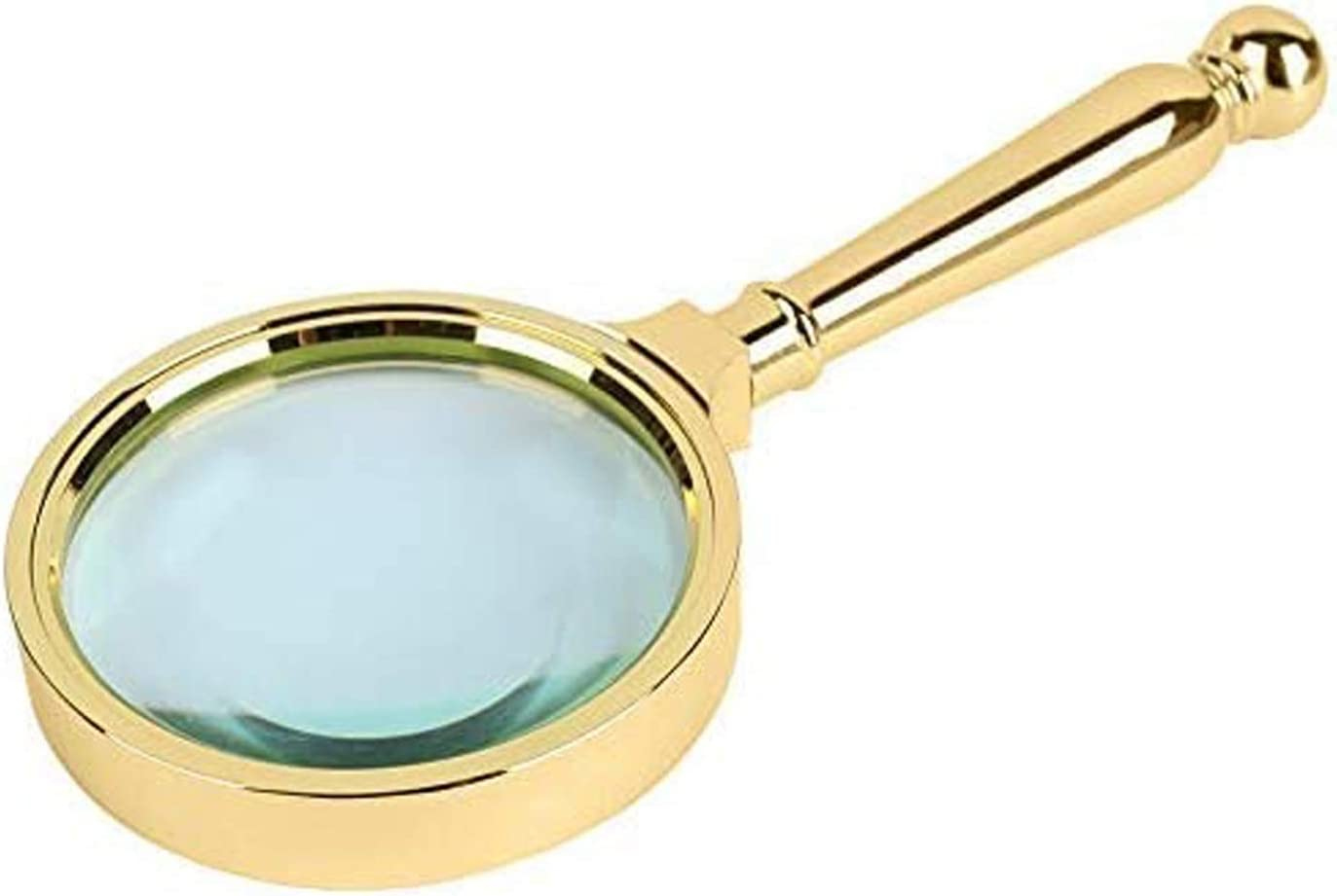 Trust CMMWA Super popular specialty store Portable Reading Magnifier 80mm Metal Retro Brass-Pla Full