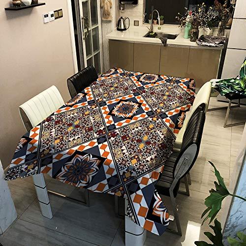WAWA Pflegeleichte, Moderne und einfache Haushaltstischdecke aus Polyester/rechteckige Tischdecke zum Bedrucken bedruckter Tischdecke ZB2024-14 140x140cm