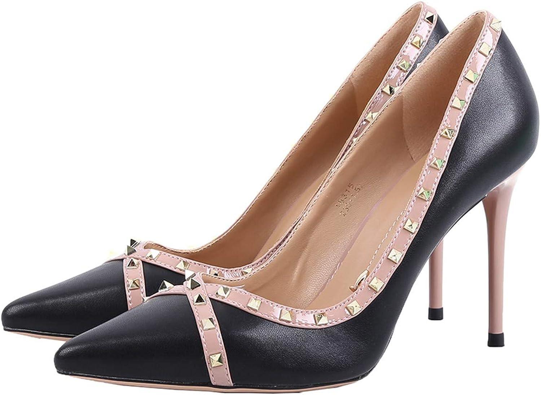 LBTSQ-ein Witz Spitze sexy damenschuhen damenschuhen damenschuhen 9cm Nieten high Heels dünn flach Modische Schuhe.  695d22