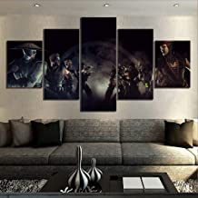 ZDLYY 5 canvas paintings,Wall art,home decoration 5 canvas paintings Mortal Kombat Game poster Mural Home Decor,20x35 20x45 20x55(cm)