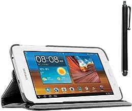 ebestStar - Funda Compatible con Samsung Galaxy Tab 3 Lite 7.0 SM-T110, VE SM-T113 Carcasa Cuero PU, Giratoria 360 Grados, Función de Soporte + Lápiz, Negro [Aparato: 193.4 x 116.4 x 9.7mm, 7.0'']