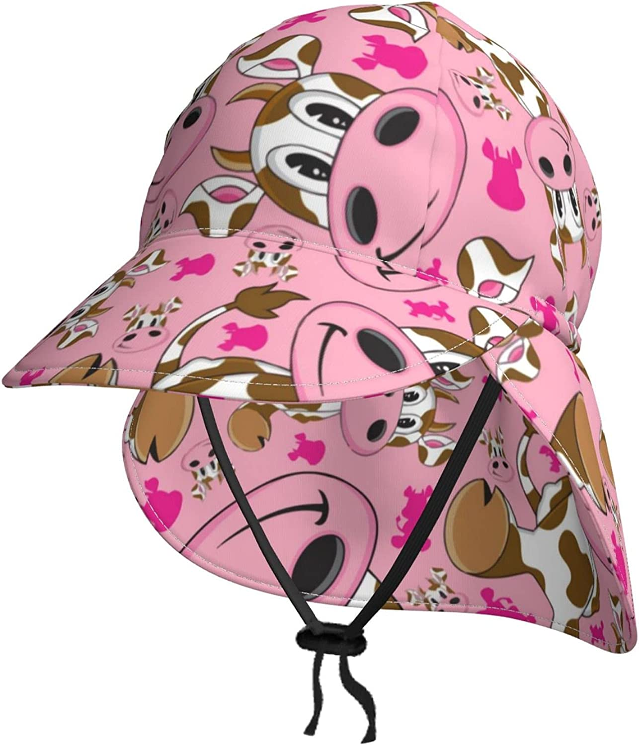 Unisex Baby Sun Hat Cartoon Pink 67% OFF of free shipping fixed price Adjustable Summer Kids Cattle B