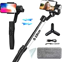 FeiyuTech Vimble2 3-Axis Handheld Gimbal Stabilizer Compatibe with Smartphone iPhone x 8 7/Samsung Note 8 Note7 with18 cm Extendable Handheld, Object Tracking,Time-Lapse Photography (Black)