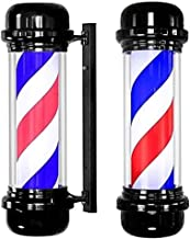 Led Barbers Pole, llluminating Rotating Salon Sign Light Red White Blue Stripes Waterproof Large Very Bright Wall-mounted Lamp (Size : 71 * 30cm)