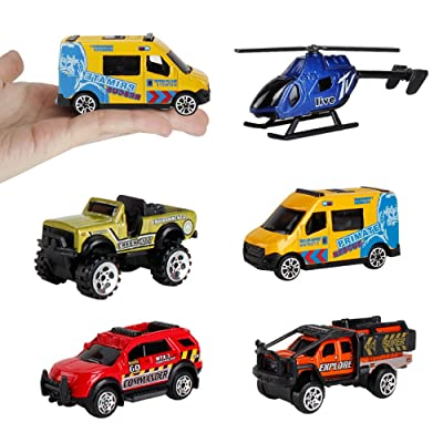 5PCS Alloy Sports Car Ambulance Patrol Wagon Ar...