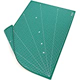 MAXKO base de corte A2 (60 x 45 cm), verde, autocicatrizante, reticulado sistema métrico/tabla para cortar/cartapacio/ecológica de PVC - protección para cuchillas y mesas de trabajo