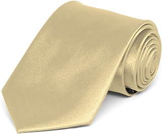 TieMart Boys' Sparkling Champagne Solid Color Necktie