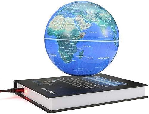 Glodqy 6 Zoll Floating Globe Beleuchtet, Weltkarte mit LED-Lichtern Erde Ballon zur Dekoration des Schreibtischs, Geburtstagsgeschenk
