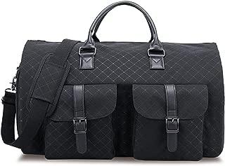 RUIMA Garment Bag 2 in 1 Convertible Travel Handing Duffel Bags Waterproof Suit Carrier Foldable Bag with Shoulder Strap Composite Oxford for Men (Black)
