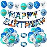 Globos Peces,COTEY 33 PCS Decoración de Fiesta de Cumpleaños de Mar Azul Con Delfines, Tiburones, Ballenas Pescados Globos para Fiesta de Cumpleaños, Decoración de Fiesta Temática Marina, Acuario,