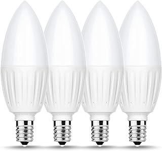 Briignite E12 Candelabra LED Light Bulbs, 80W Incandescent Bulb Equivalent, 880LM, Daylight 5000K LED Chandelier Bulb, 9W ...