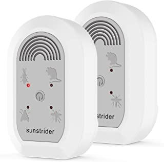 SunStrider Ultrasonic Pest Repeller -Electronic Bug Repellent Plug in-Mosquito Repellent Indoor UsePest Control for Mice, Ants, Mosquitoes, Rats, Roaches, Rodents-New Upgraded 2 Pack