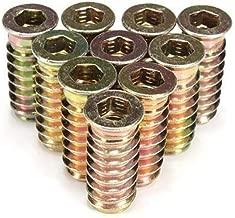 M8*20mm Inserte la tuerca Fydun 20pcs de acero al carbono hexagonal de accionamiento de tuercas de inserci/ón roscadas para muebles de madera M6 M8 M10