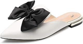 CASTAMERE Chaussures Plates Femme Bout Pointu Mules Papillon Basses Chaussons