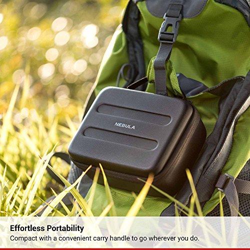 Nebula Capsule Official Travel Case for Nebula Capsule Pocket Projector, Polyurethane Leather, Soft Ethylene-Vinyl Acetate Material, and Splash-Resistance Premium Protection Projector Carry Case