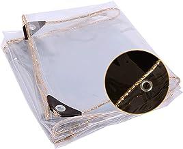 JIANFEI Transparant dekzeil afdekzeil, multifunctionele afdekkingen voor broeikasgassen Plant Windproof Tarpaulin, 450 g/...