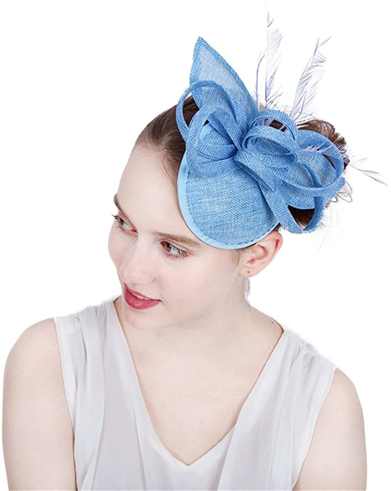 Women Wedding Headpiece on Hair Clips Feather Charming Millinery SYF197