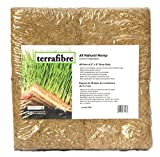 Terrafibre Hemp Grow Mat - Perfect for Microgreens, Wheatgrass, Sprouts - 40 Pack 5' x 5' (Fits 5' by 5' Growing Tray or 8 in a Standard 10' X 20' Germination Tray) Fully Biodegradable
