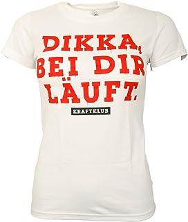 Kraftklub Damen Frauen T-Shirt Dikka, bei dir läuft