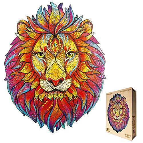 KAAYEE Holzpuzzles, Löwenkopf-Puzzles, Bildung und Unterhaltung, Puzzles zur intellektuellen Entwicklung von Kindern und Erwachsenen (groß)
