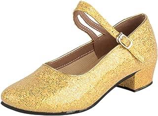 ZEVONDA Fashion Girls Latin Dance Shoes with Soft Sole Ballroom Dance Shoes