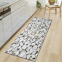 3D Stone Printed Long Floor Mats Non-Slip Kitchen Carpet Simulated Pebble Bathroom Rugs 45x140cm