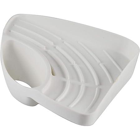 Plastic Soap Sponge Holder Bathroom Kitchen Dish Scrubber Organizer Shelf