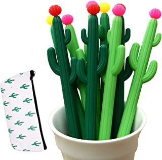 Leaf & cici-30 cactus shaped roller pens, cactus gel ink pens, writing pens, office supplies, school supplies, household s...
